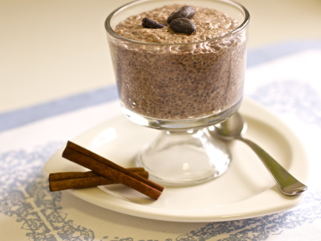 Chocolatey Chia Seed Pudding with Cardamon Spice