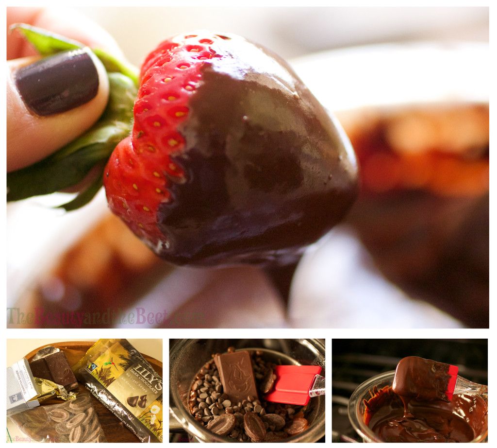 chocolate strawberry collage